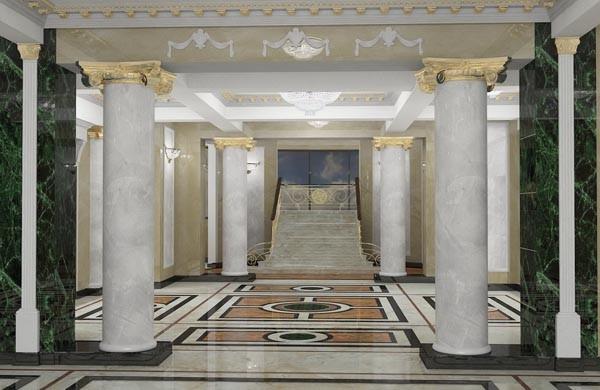 Проекты интерьеров дворца текстильщиков в случае размещения там многопрофильного культурного центра