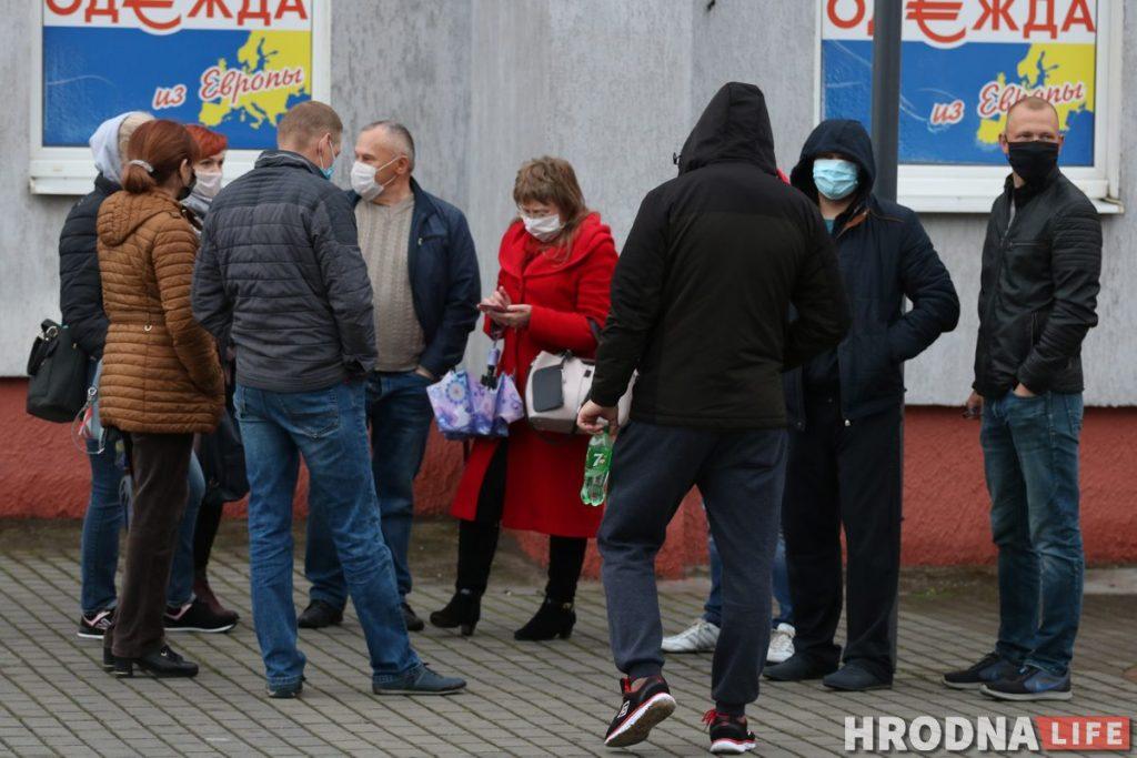 Падтрымаць блогера Ціханоўскага ў цэнтры Гродна выйшлі 20 чалавек
