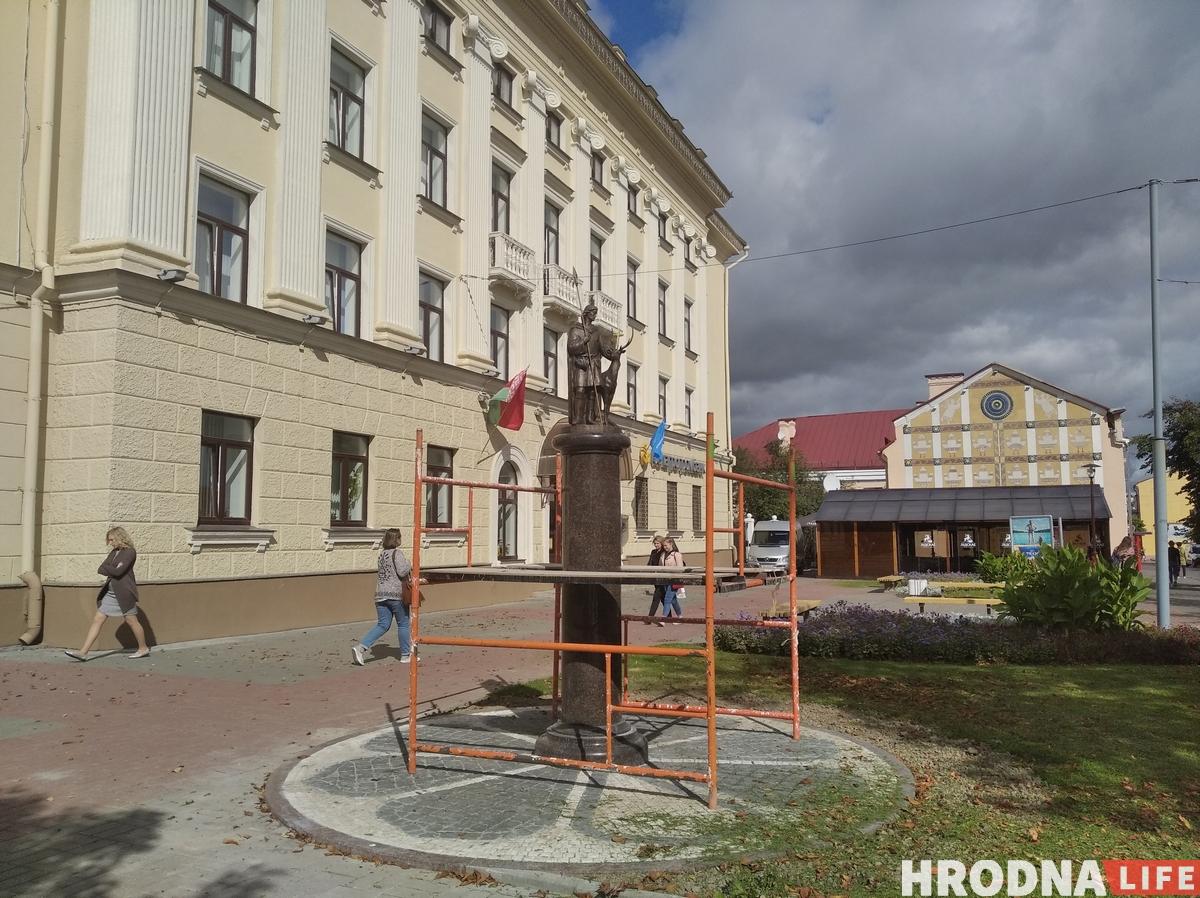 Скульптуру Святога Губерта ўсталявалі ў Гродне