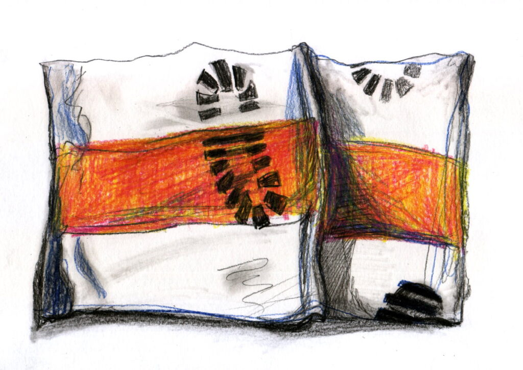 У командира части возле входа в кабинет вместо коврика лежит бело-красно-белый флаг, говорит Алексей. Иллюстрация: Вероника Гончар