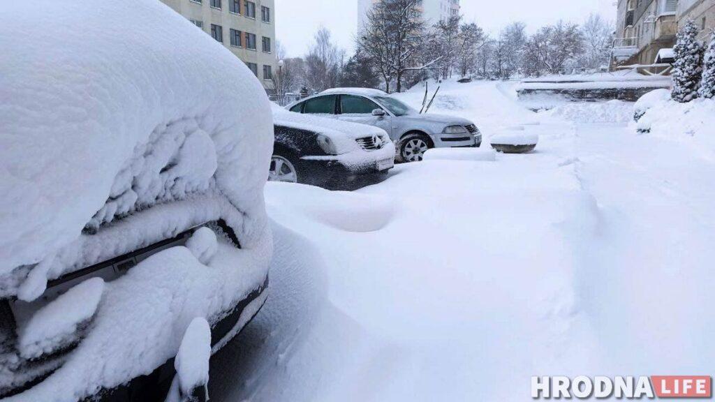 такси Гродно снег замело