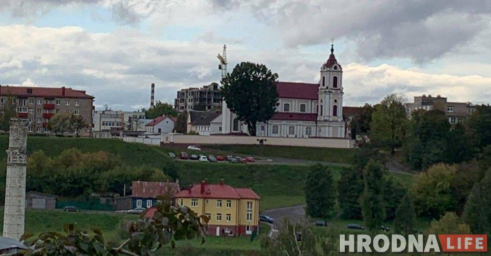 Вид на занеманскую часть города с драмтеатра. Фото: Ирина Варкулевич