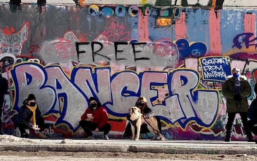 Граффити в поддержку Банцера. Фото free_bancer