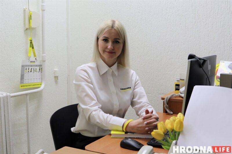 Наталья Король Karcher на своем рабочем месте