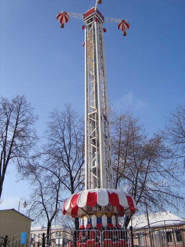 """В парке Жилибера появится новый аттракцион - """"Башня падения"""""""