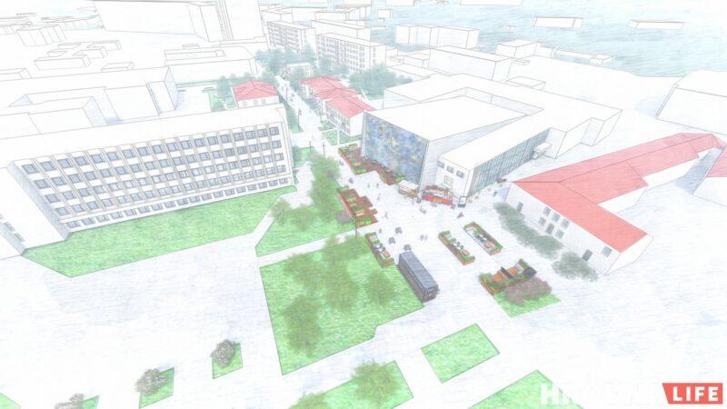 Вид района Городница в проекте Анны Орлюк