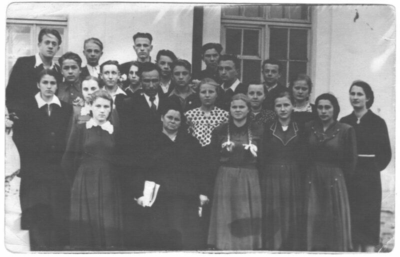школьный выпускной Новогрудский район, 1957 г.