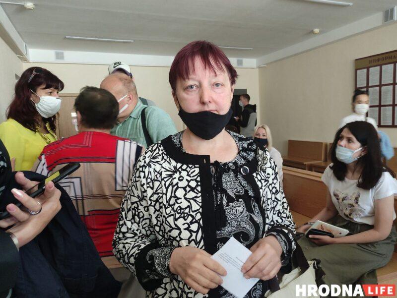 Алла Горацкевич в суде Октябрьского района Гродно. Фото: Елена Ковальчук